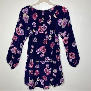 Rebecca Taylor Tops - Rebecca Taylor Blue Floral Tunic Blouse